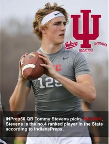 tommy stevens IU commitment